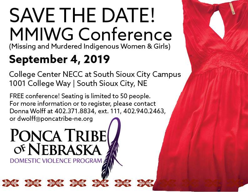 Ponca Tribe to offer a FREE conference on Missing and Murdered Indigenous Women and Girls this Fall