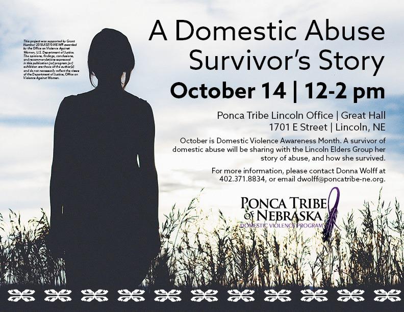 Domestic Violence program to host presentation by abuse survivor