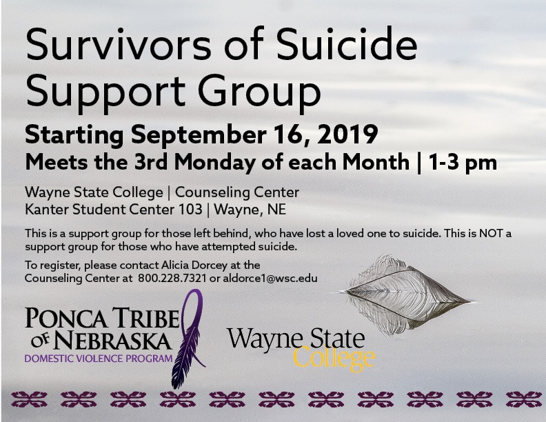 Suicide Support Group to begin in September