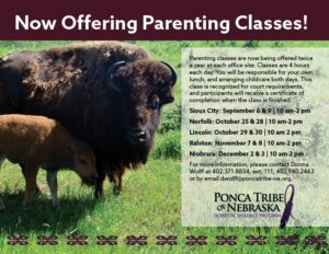 Ponca Tribe now offering parenting classes