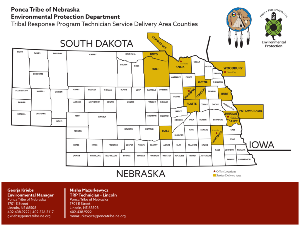 Tribal Response rogram Technician Service Delivery Area Counties