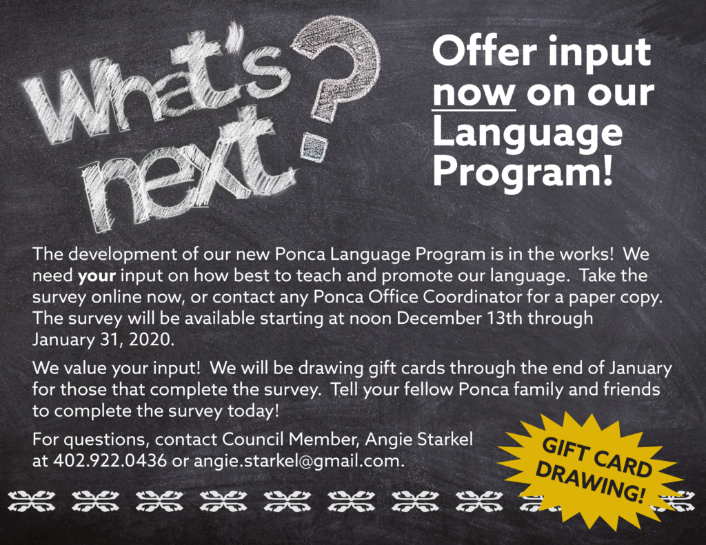 Ponca Language Program Survey