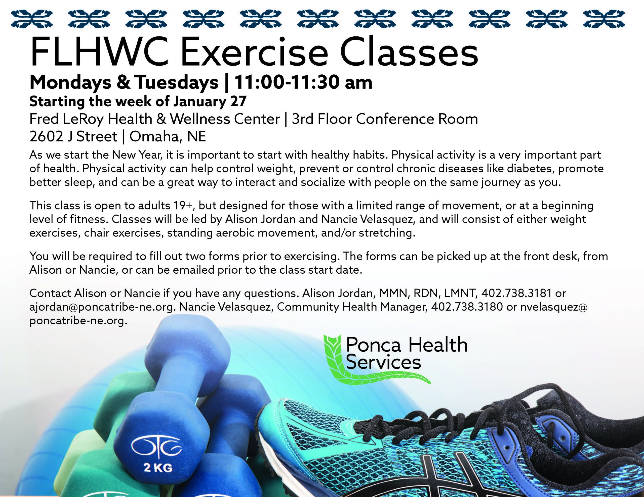 Exercise Classes at Fred LeRoy Health and Wellness Center