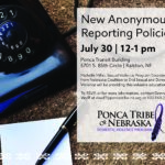 New Anonymous Reporting Policies July 30
