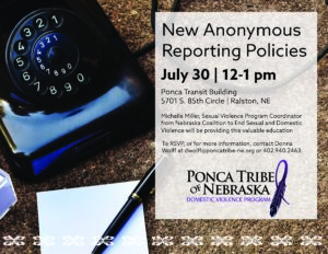 New Anonymous Reporting Policies
