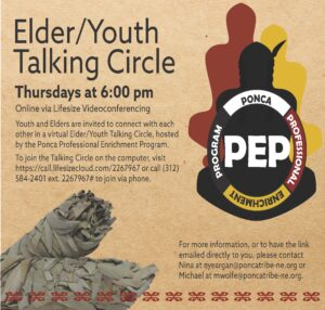 PEP Hosts Elder/Youth Virtual Talking Circle