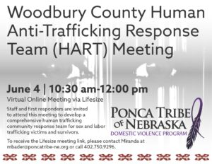Woodbury County Human Anti-Trafficking Response Team (HART) Meeting June