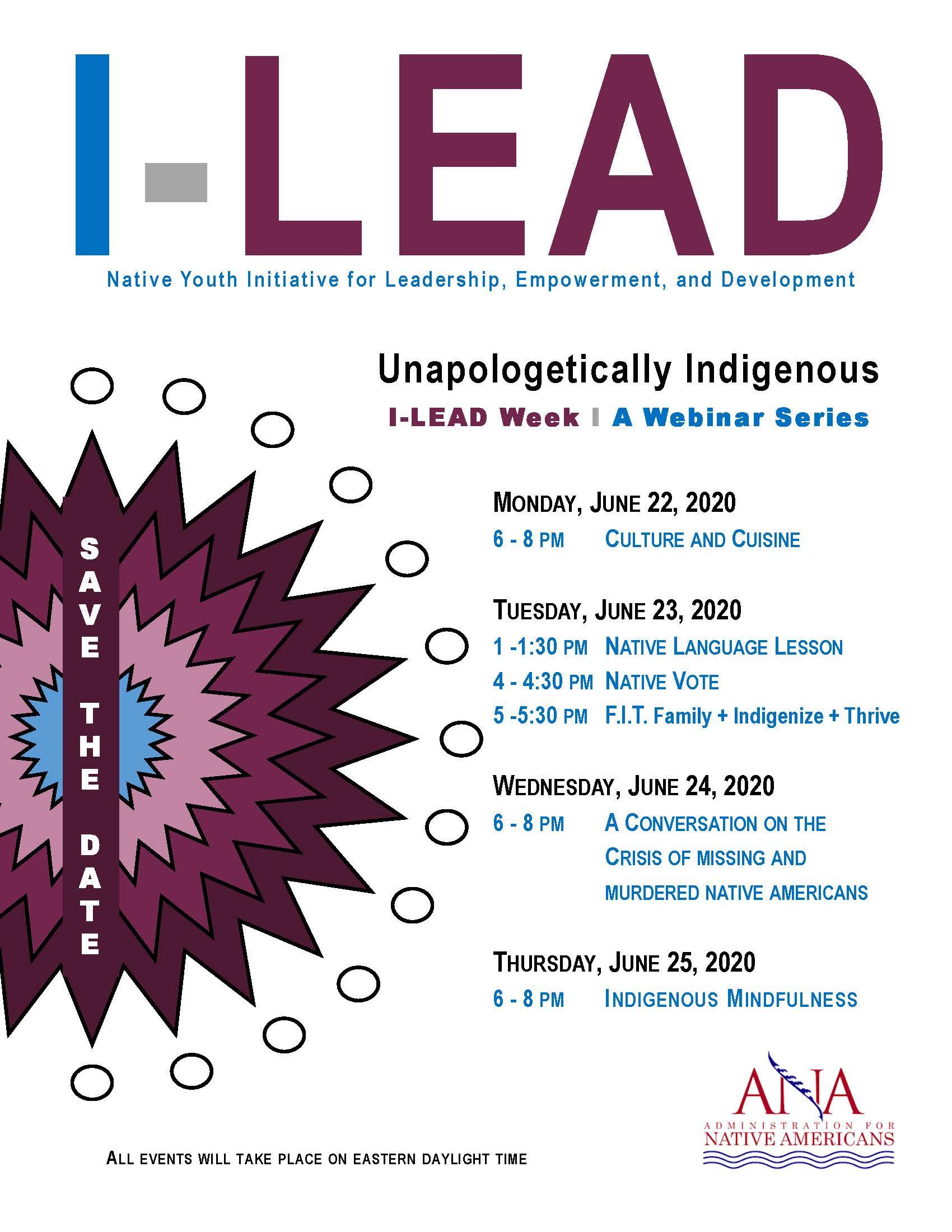 I-LEAD Youth Webinar Series