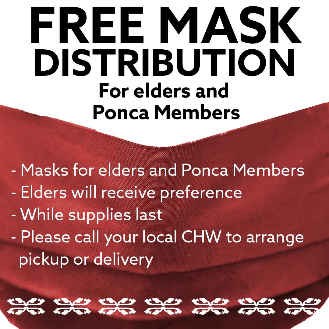 Mask Distribution for Elders and Ponca Members