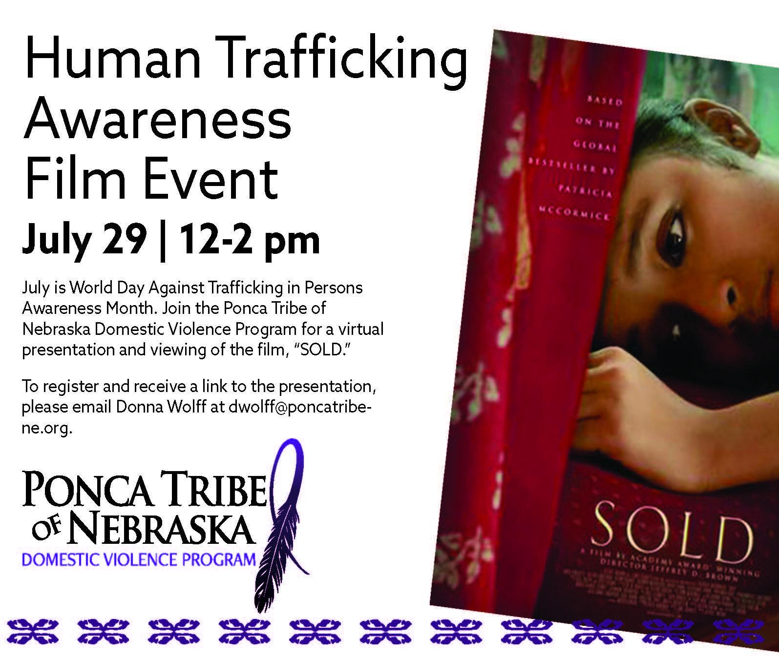 Human Trafficking Awareness Film Event