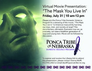 """Virtual Movie Presentation: """"The Mask You Live In"""""""