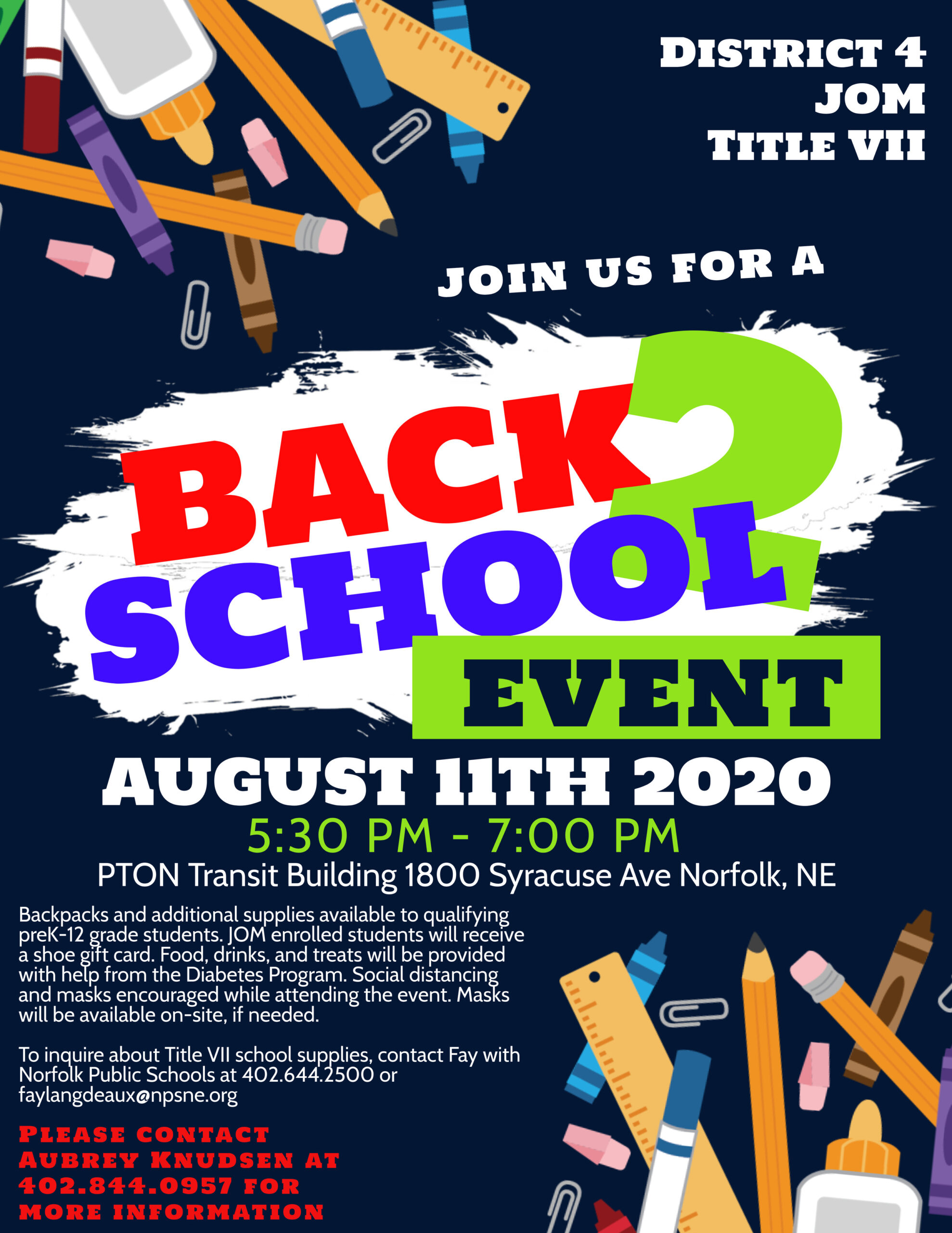 District 4 Back to School Event
