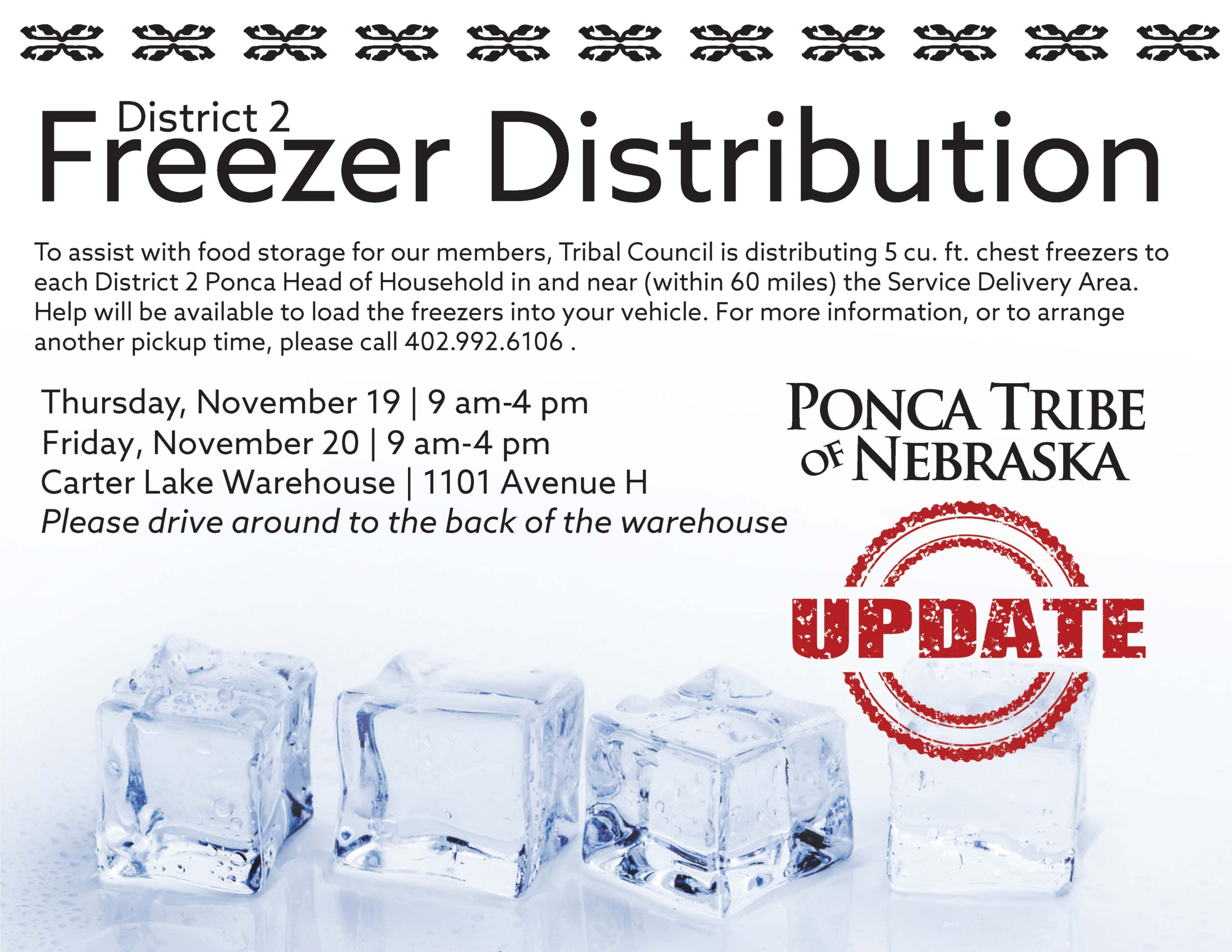 District 2 Freezer Distribution Update